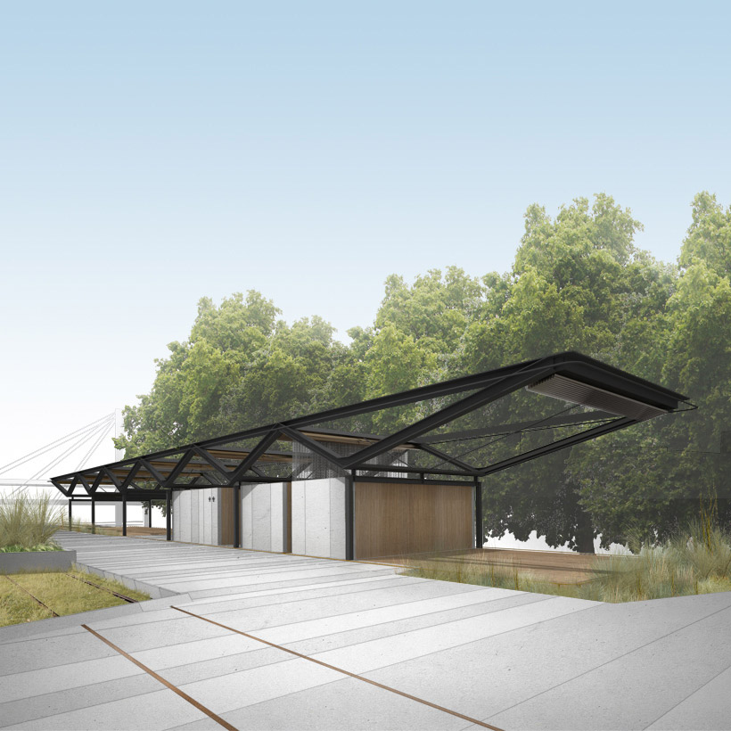 Visualisation of the Transformer, a multi-function pavilion